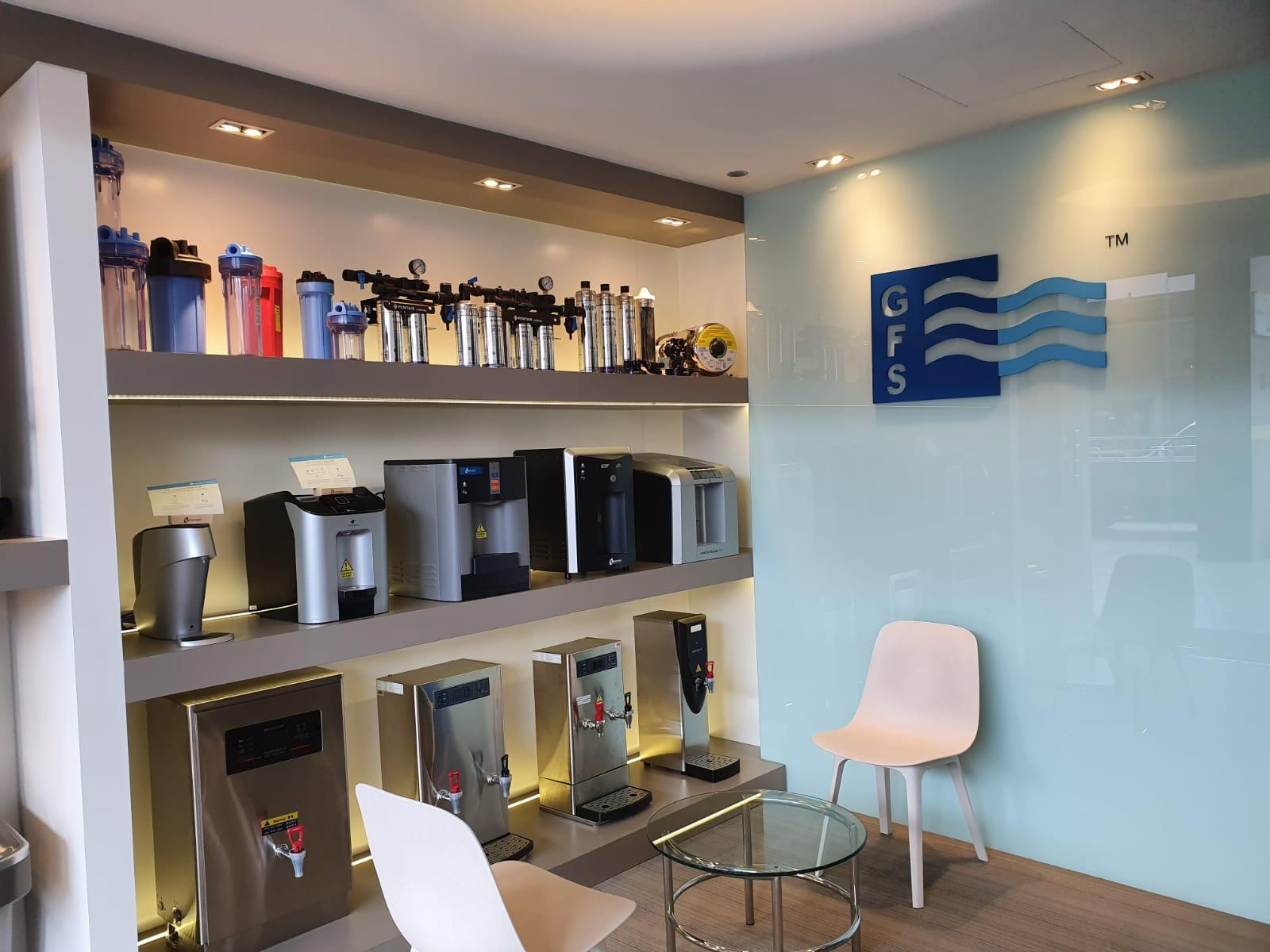 GFS Innovation showroom for water dispensers in Singapore